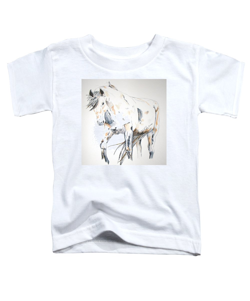 Horse Toddler T-Shirt featuring the painting Beauty by Crystal Hubbard