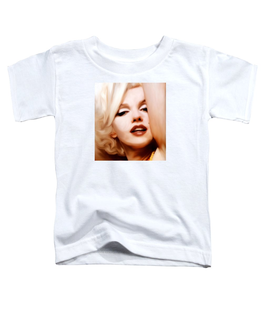 Mixed Media Toddler T-Shirt featuring the mixed media Born Blonde - Or Was She? by Georgiana Romanovna