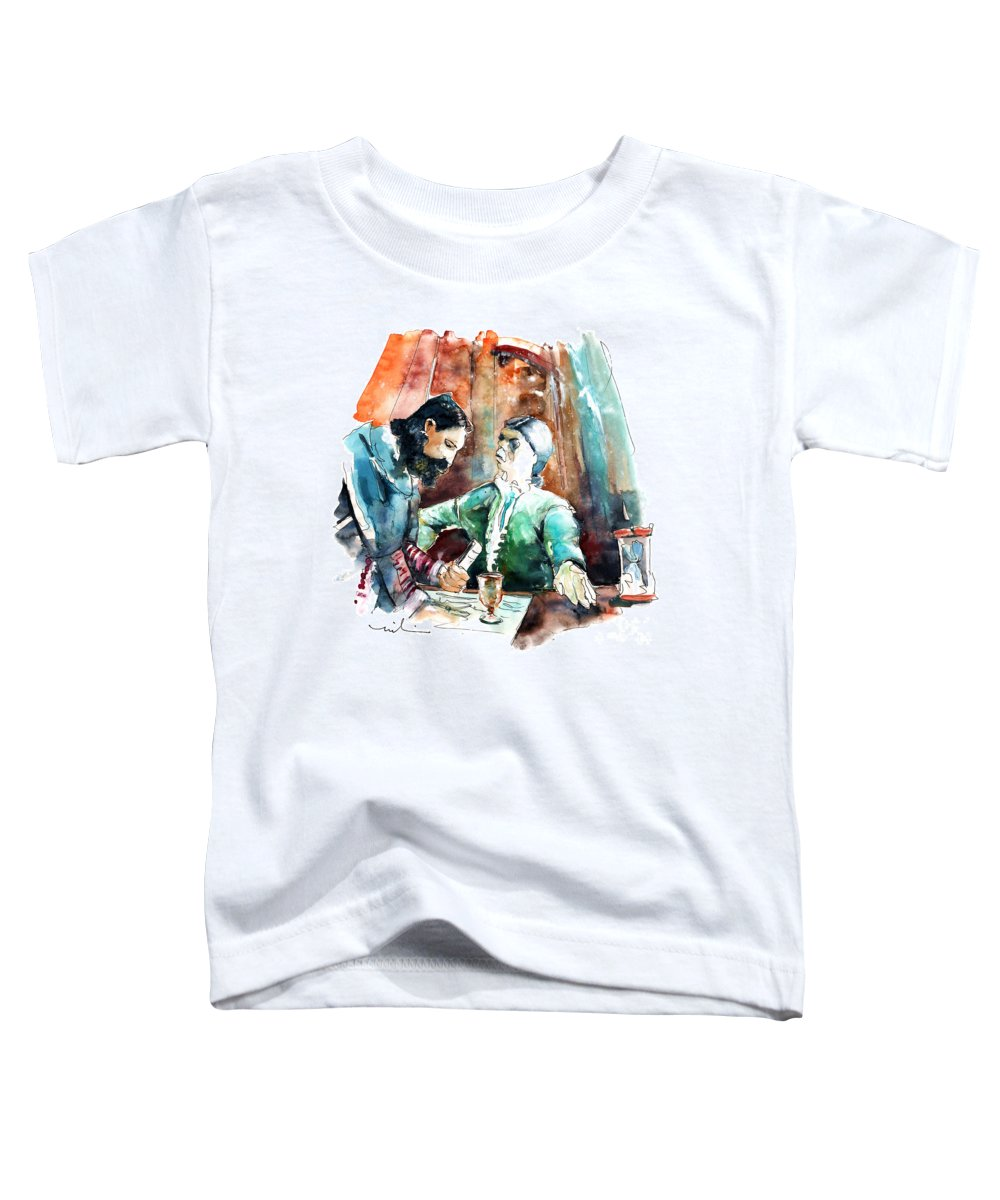 Portugal Toddler T-Shirt featuring the painting Conquistadores On The Boat In Vila Do Conde In Portugal by Miki De Goodaboom