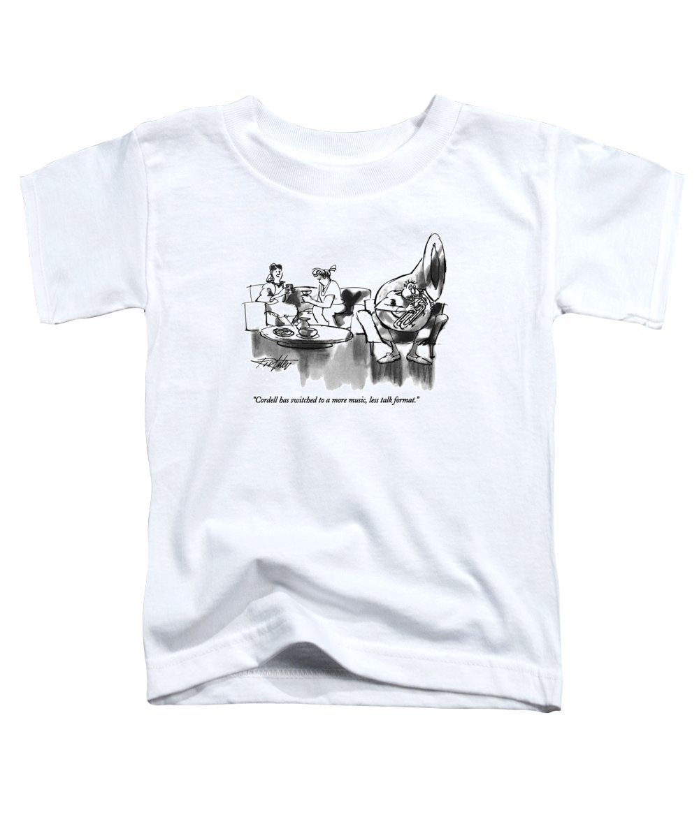 Relationships Toddler T-Shirt featuring the drawing Cordell Has Switched To A More Music by Mischa Richter