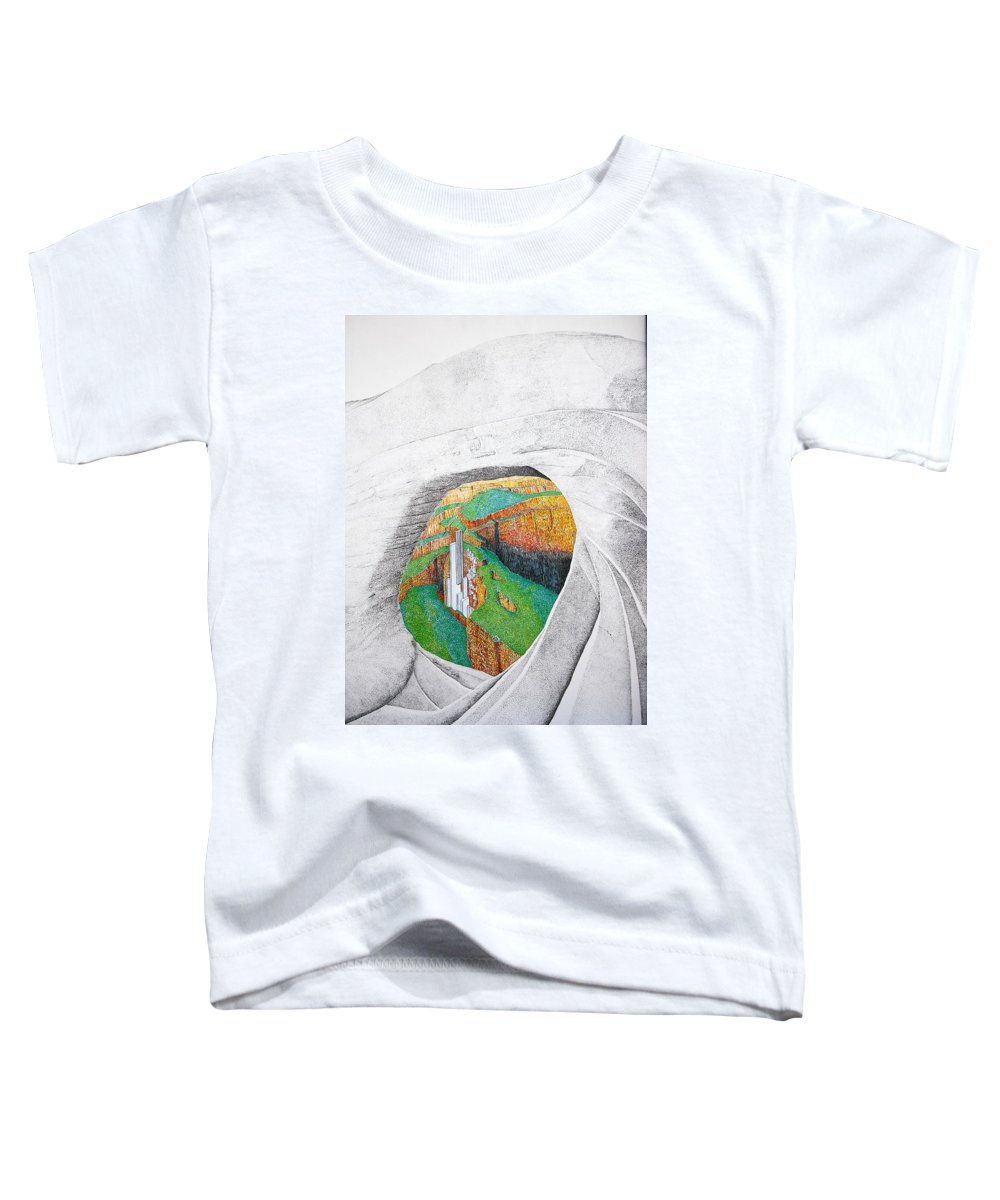 Rocks Toddler T-Shirt featuring the painting Cornered Stones by A Robert Malcom