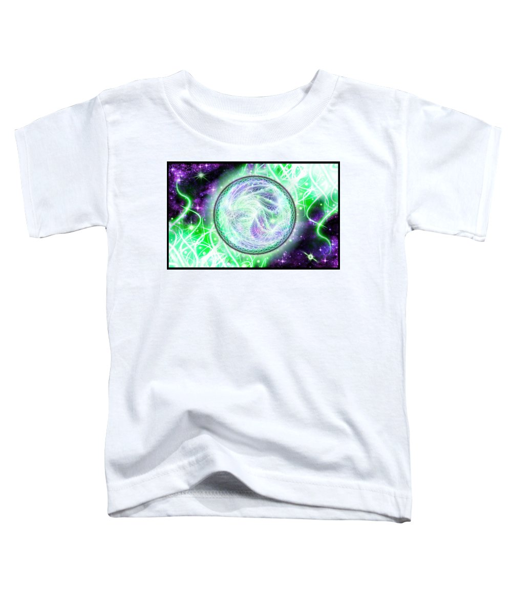 Corporate Toddler T-Shirt featuring the digital art Cosmic Lifestream by Shawn Dall