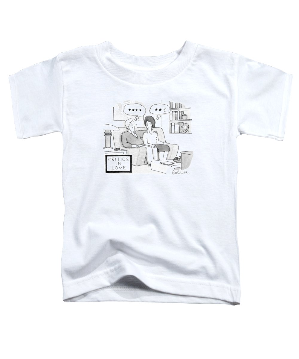 Vanity Toddler T-Shirt featuring the drawing Critics In Love by Leo Cullum