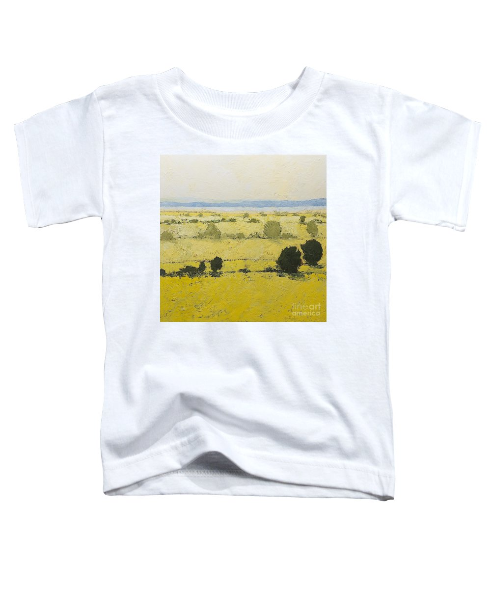Landscape Toddler T-Shirt featuring the painting Dry Grass by Allan P Friedlander