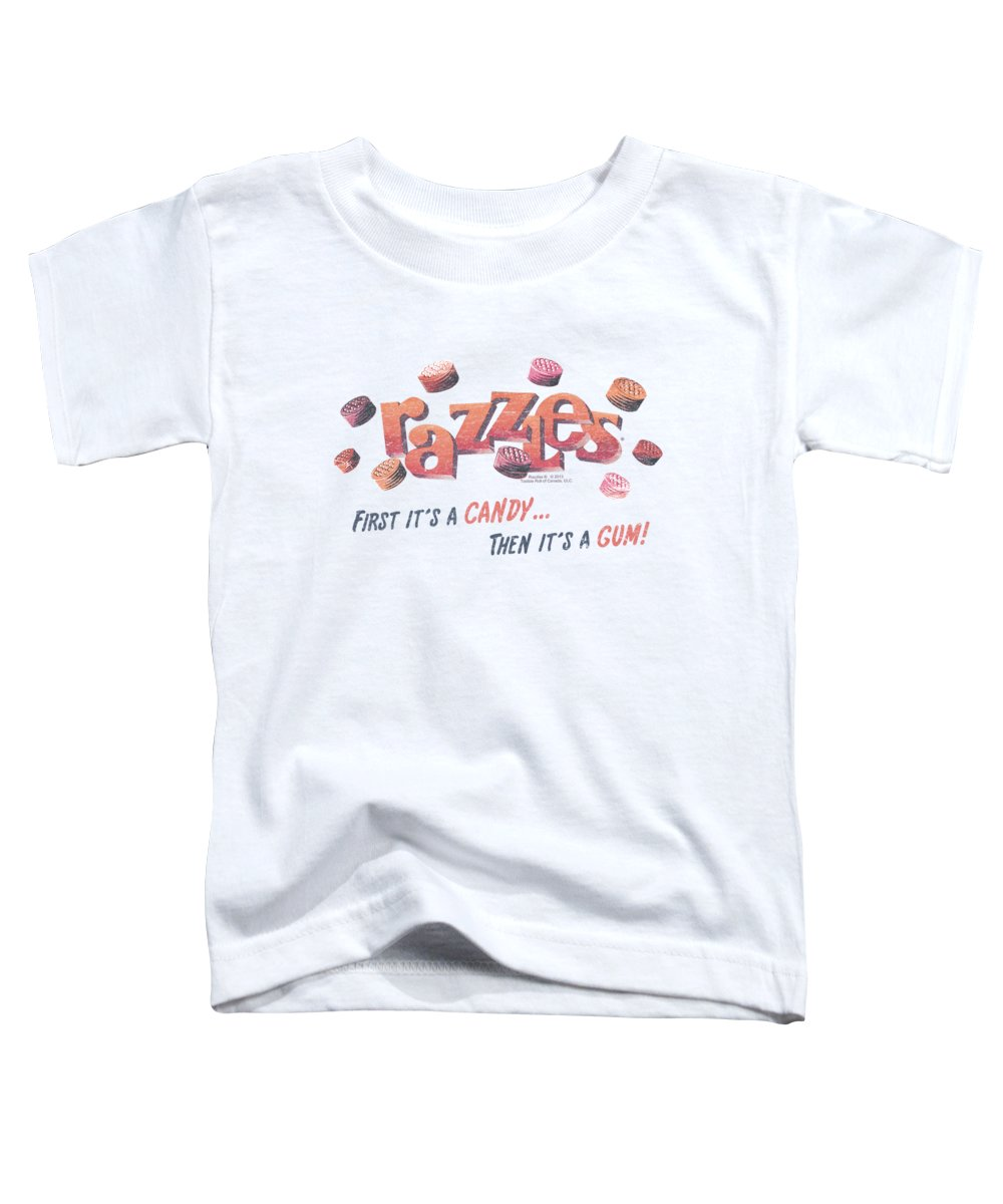 Dubble Bubble Toddler T-Shirt featuring the digital art Dubble Bubble - A Gum And A Candy by Brand A