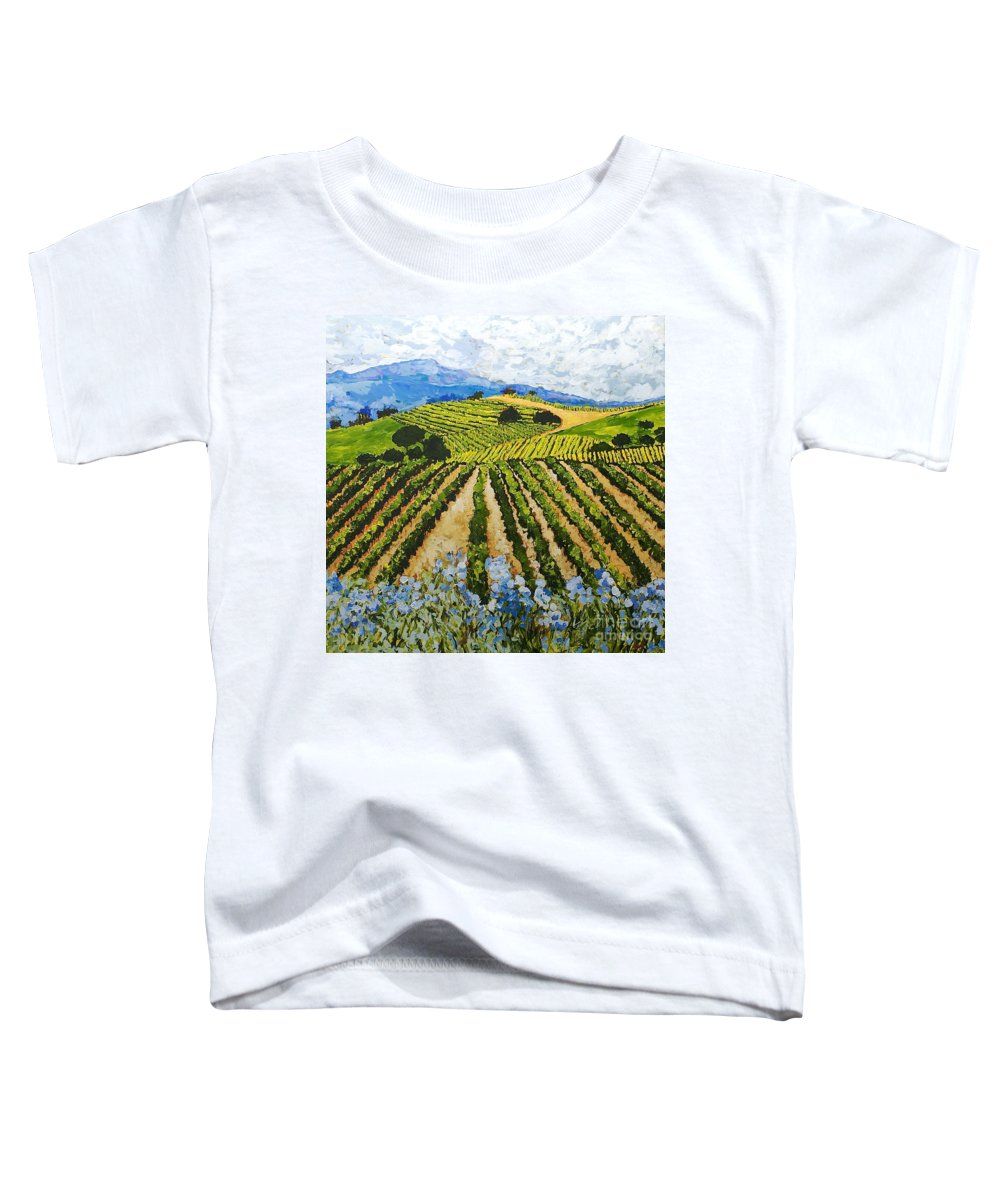Landscape Toddler T-Shirt featuring the painting Early Crop by Allan P Friedlander
