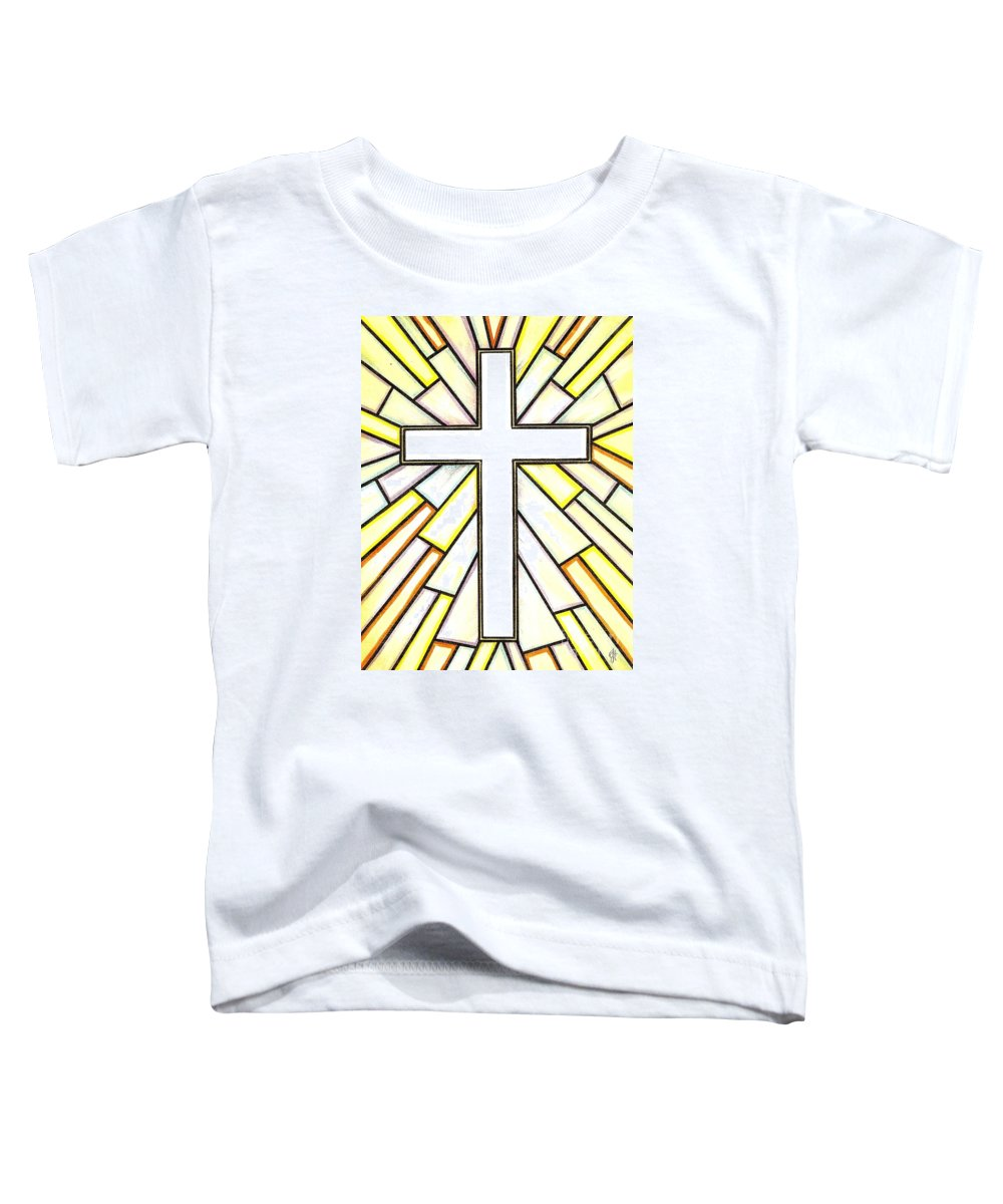 Cross Toddler T-Shirt featuring the painting Easter Cross 3 by Jim Harris