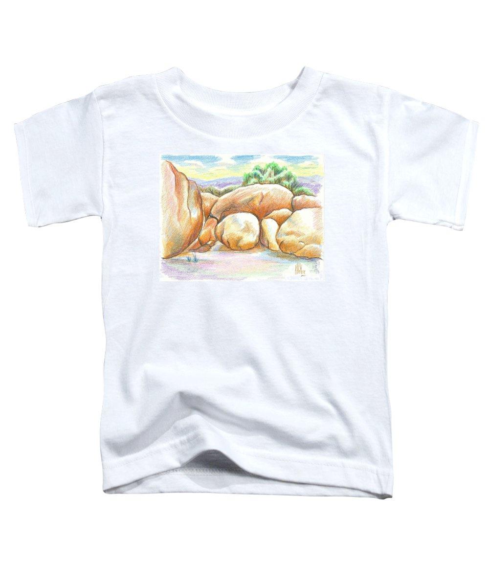 Elephant Rocks State Park Ii No C103 Toddler T-Shirt featuring the painting Elephant Rocks State Park II No C103 by Kip DeVore