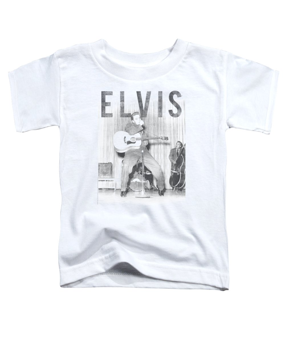 Elvis Toddler T-Shirt featuring the digital art Elvis - With The Band by Brand A
