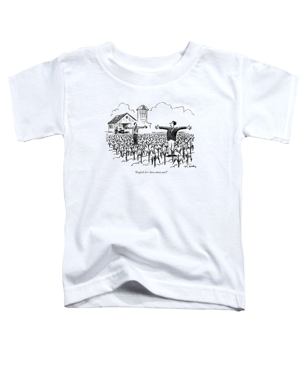 Education Toddler T-Shirt featuring the drawing English Lit - How About You? by Mike Twohy