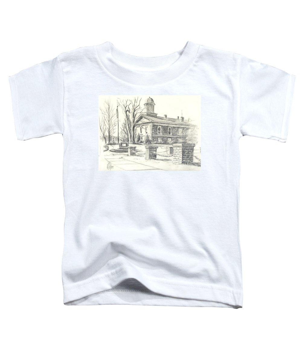 February Morning No Ctc102 Toddler T-Shirt featuring the drawing February Morning No Ctc102 by Kip DeVore