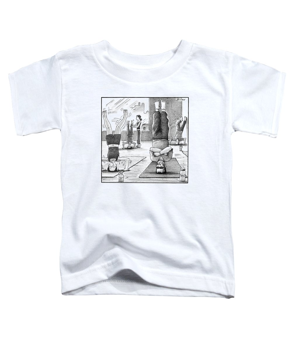 Captionless Frankenstein Toddler T-Shirt featuring the drawing Frankenstein's Monster Easily Balances by Harry Bliss