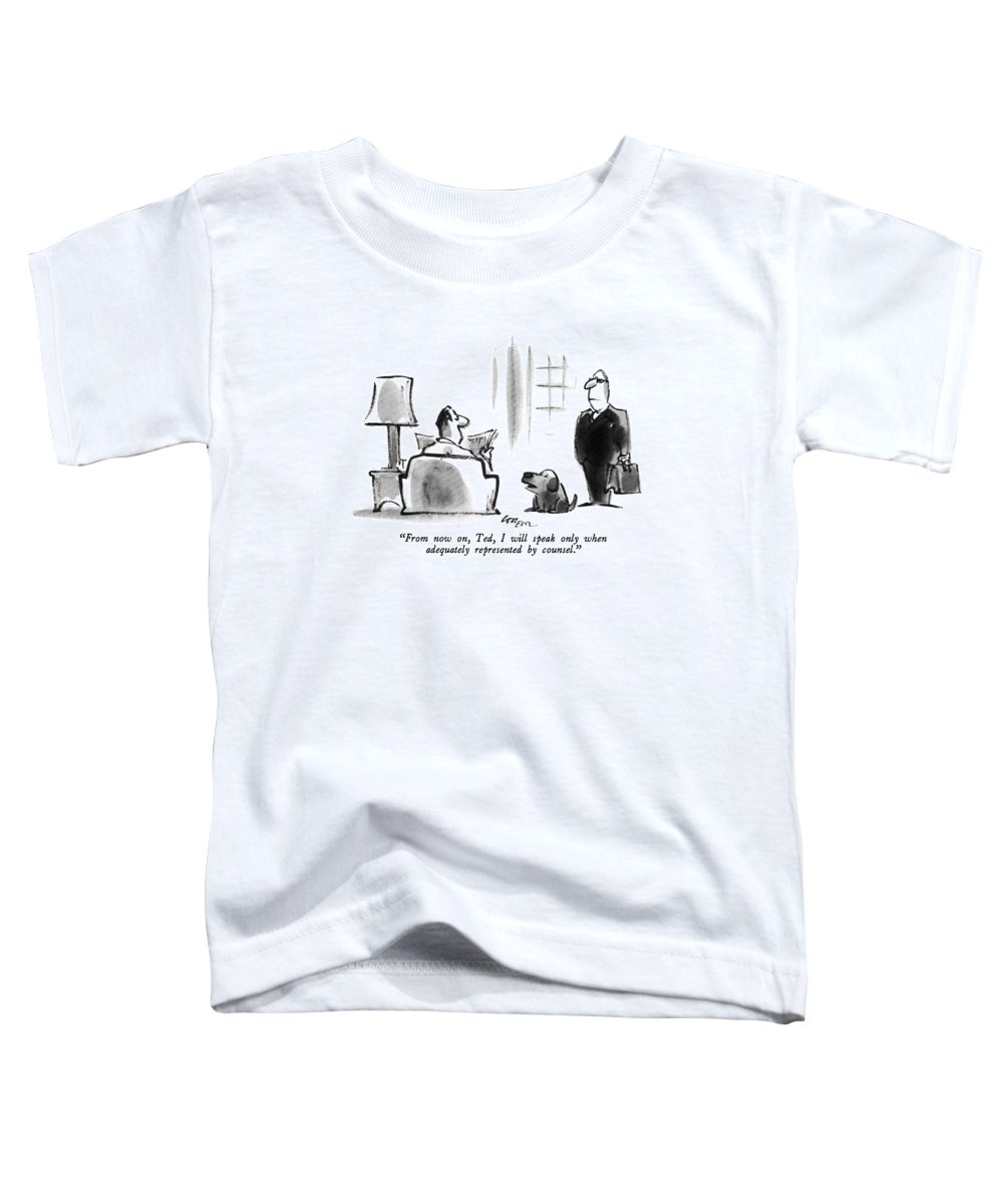 Dog Toddler T-Shirt featuring the drawing From Now by Lee Lorenz