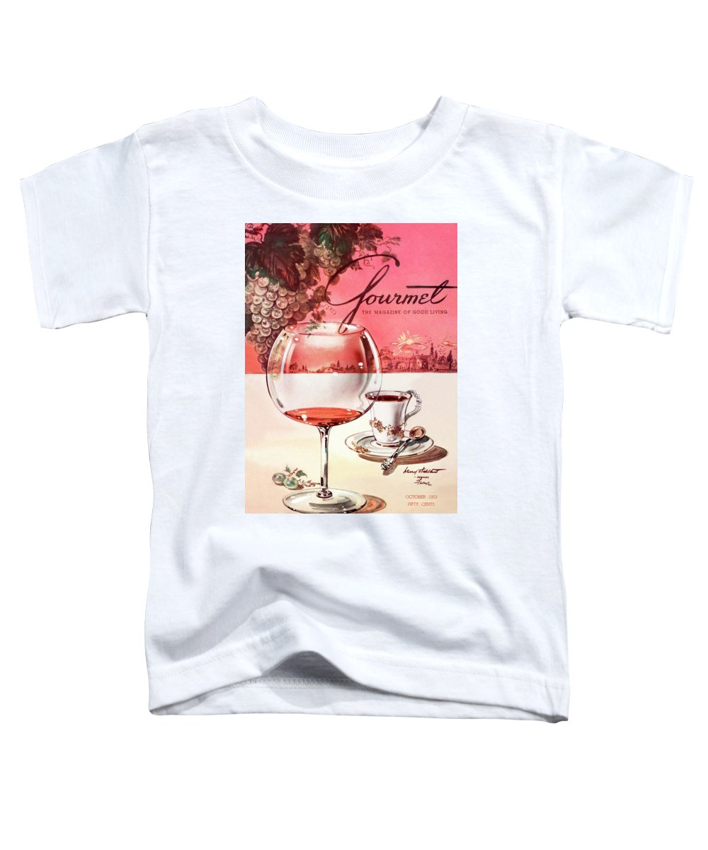 Travel Toddler T-Shirt featuring the photograph Gourmet Cover Illustration Of A Baccarat Balloon by Henry Stahlhut