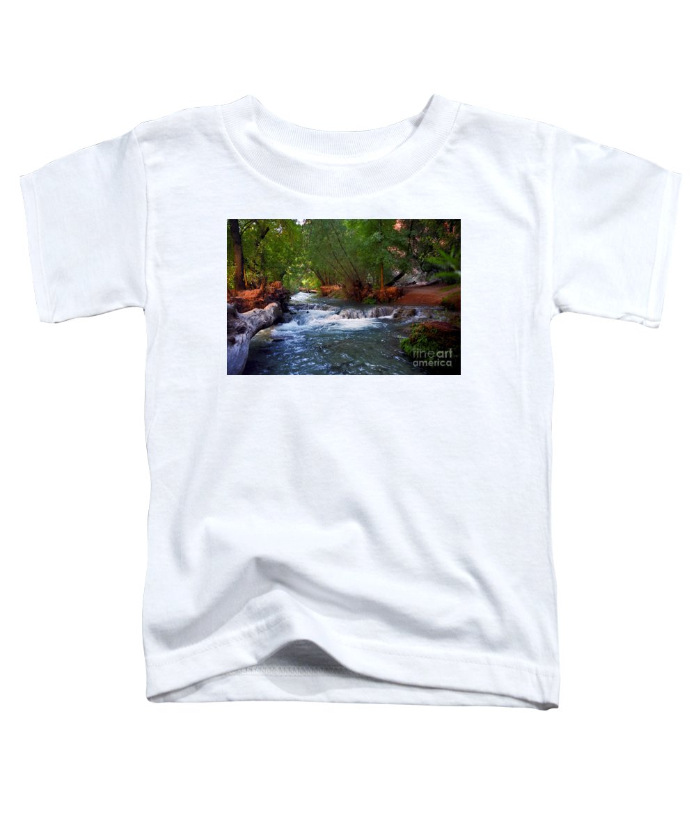 Arizona Toddler T-Shirt featuring the photograph Havasu Creek by Kathy McClure