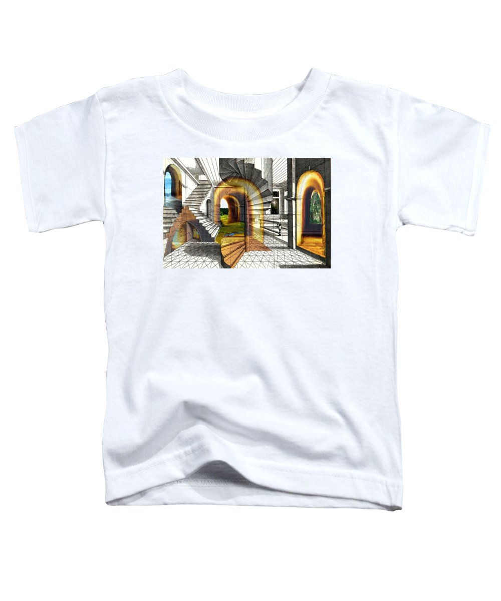 House Toddler T-Shirt featuring the digital art House Of Dreams by Lisa Yount
