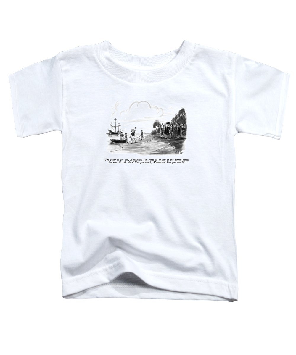 History Toddler T-Shirt featuring the drawing I'm Going To Get by Warren Miller