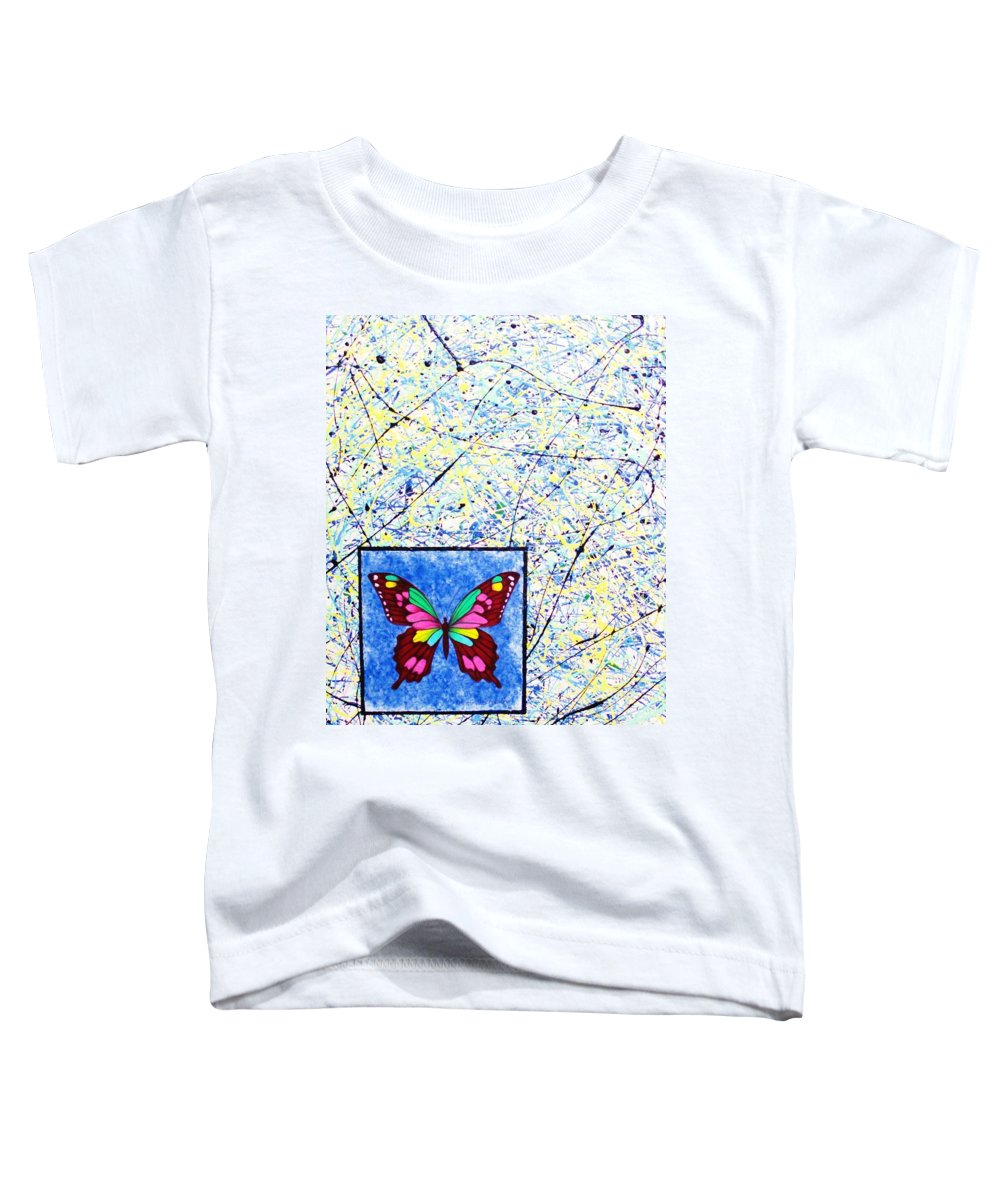 Abstract Toddler T-Shirt featuring the painting Imperfect I by Micah Guenther