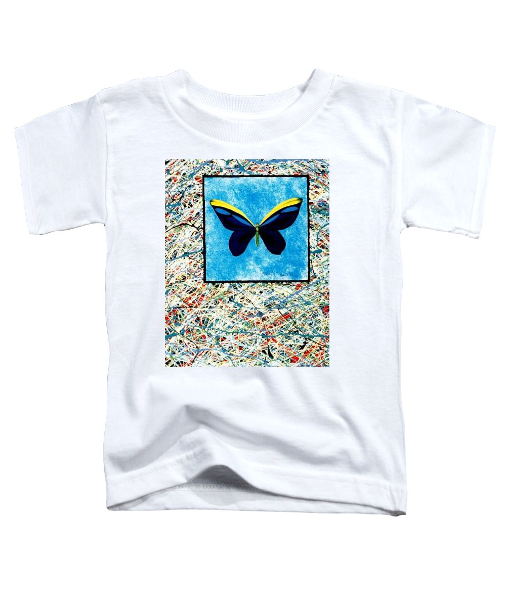 Abstract Toddler T-Shirt featuring the painting Imperfect II by Micah Guenther