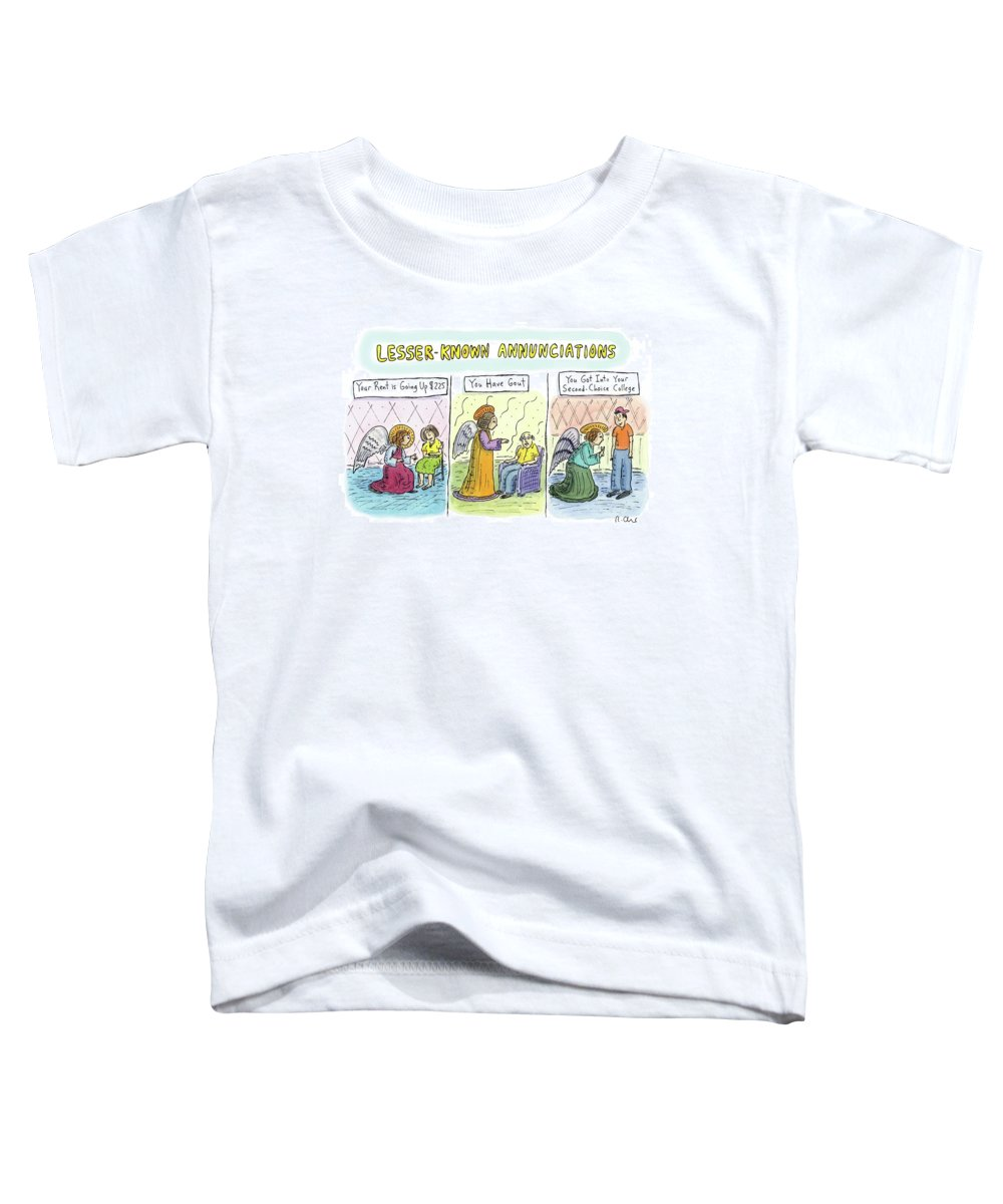 Angels Toddler T-Shirt featuring the drawing In The First Panel by Roz Chast