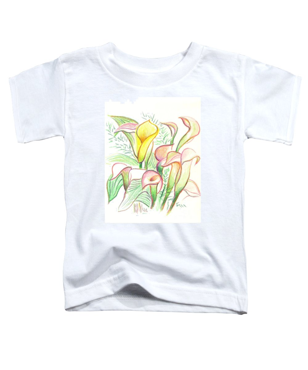 In The Golden Afternoon Toddler T-Shirt featuring the painting In The Golden Afternoon by Kip DeVore