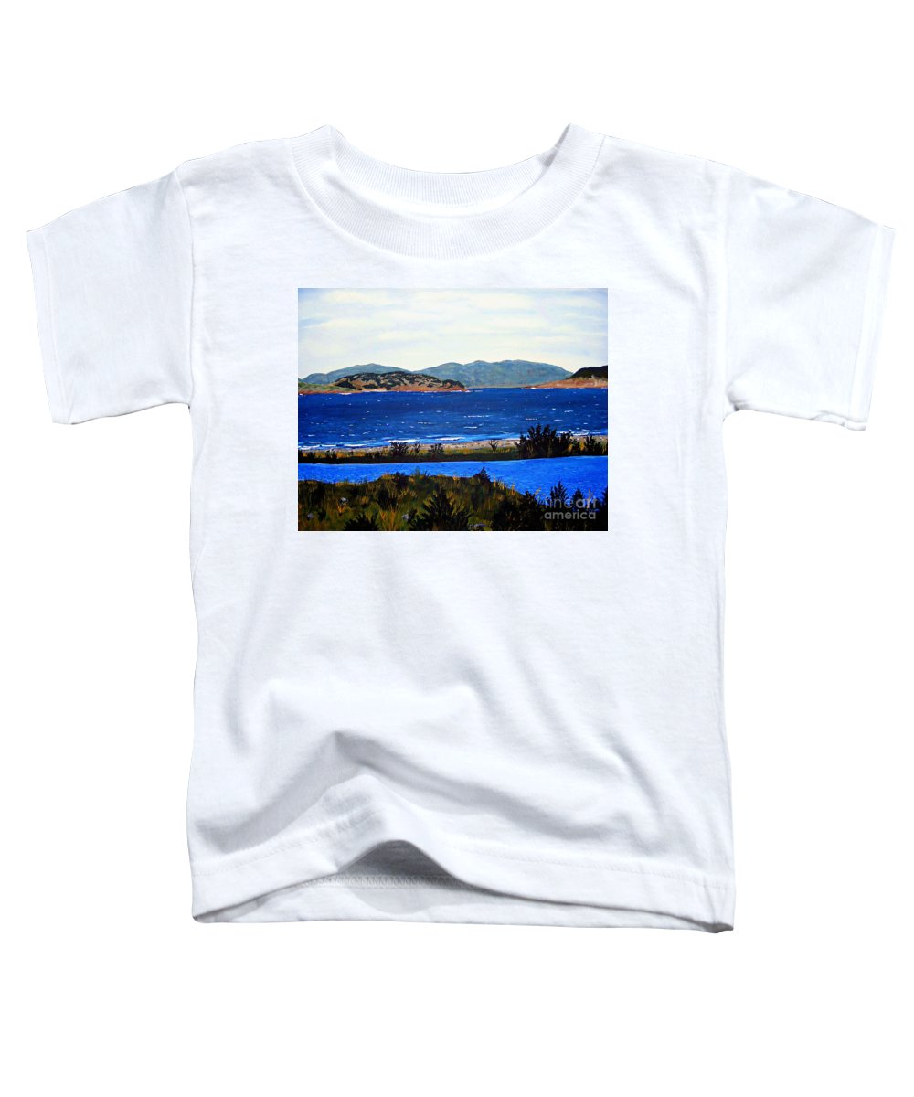 Islands Toddler T-Shirt featuring the painting Iona formerly Rams Islands by Barbara Griffin