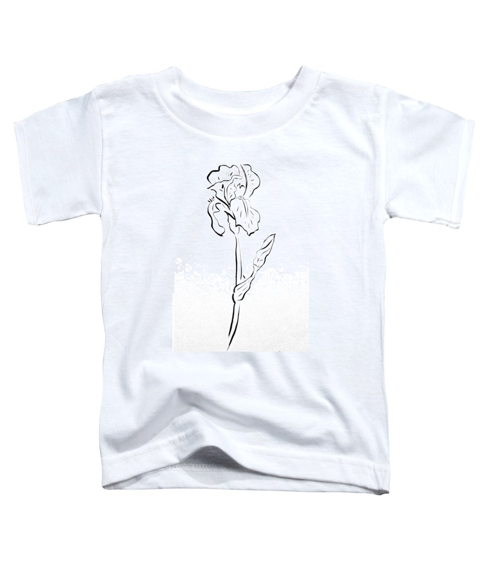 Abstract Toddler T-Shirt featuring the drawing Iris II by Micah Guenther