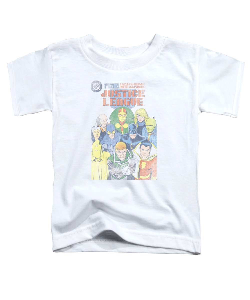 Justice League Of America Toddler T-Shirt featuring the digital art Jla - Justice League #1 Cover by Brand A