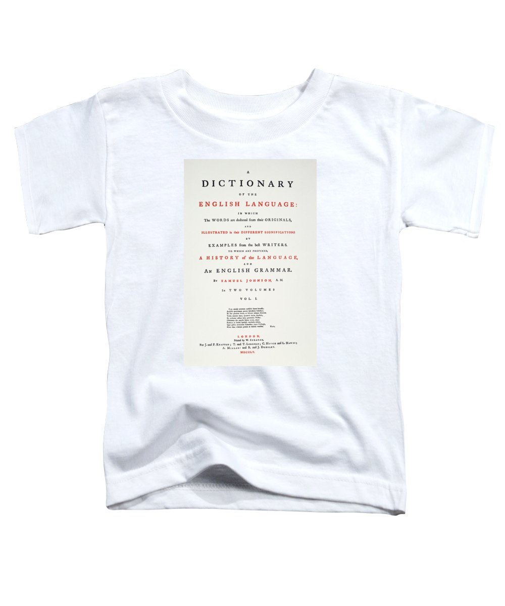 1755 Toddler T-Shirt featuring the painting Johnson's Dictionary, 1755 by Granger