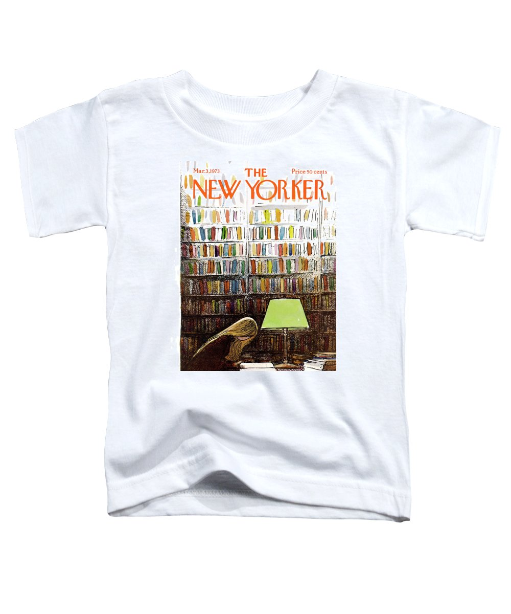 Library Toddler T-Shirt featuring the painting Late Night At The Library by Arthur Getz