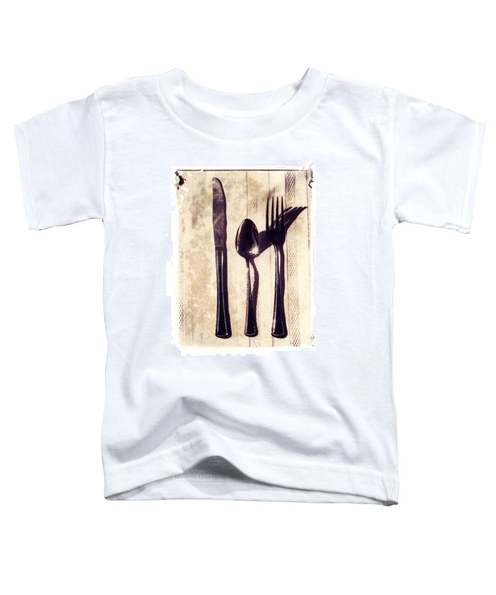 Forks Toddler T-Shirt featuring the photograph Lets Eat by Jane Linders