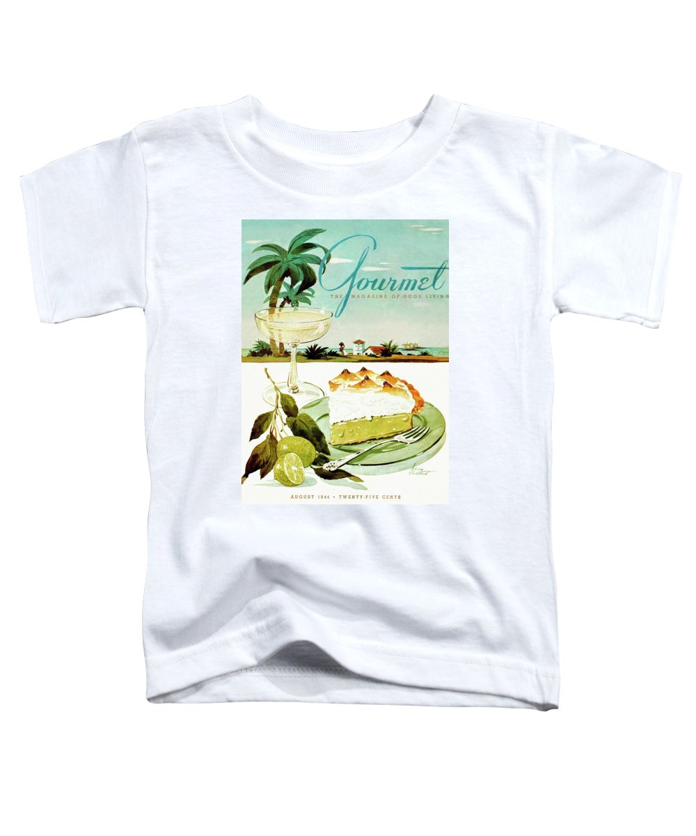 Food Toddler T-Shirt featuring the photograph Lime Meringue Pie With Champagne by Henry Stahlhut