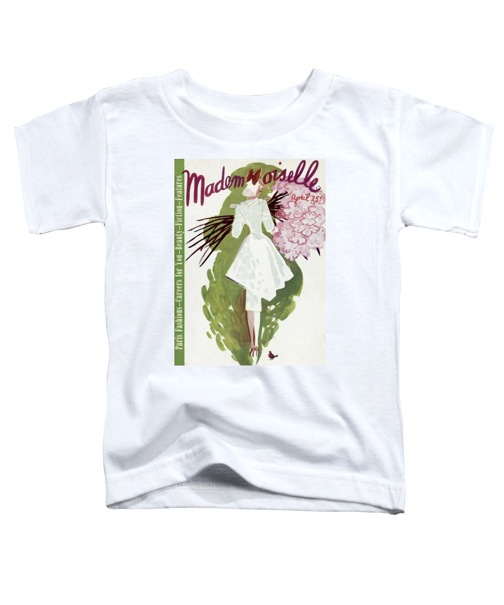 Fashion Toddler T-Shirt featuring the photograph Mademoiselle Cover Featuring A Woman Carrying by Elizabeth Dauber