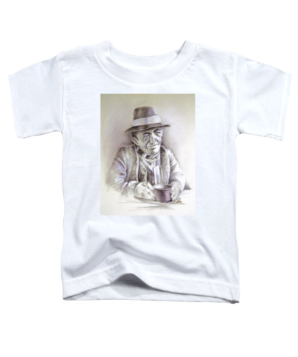 Portrait Michael Anderson Toddler T-Shirt featuring the painting Michael J Anderson by Miki De Goodaboom