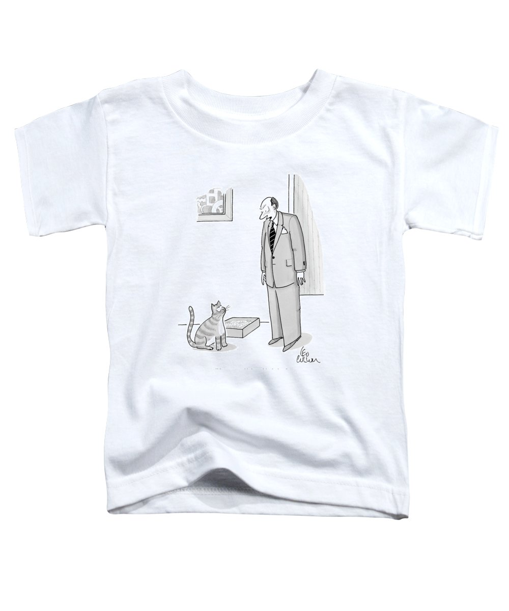Never Toddler T-Shirt featuring the drawing Never, Ever, Think Outside The Box by Leo Cullum