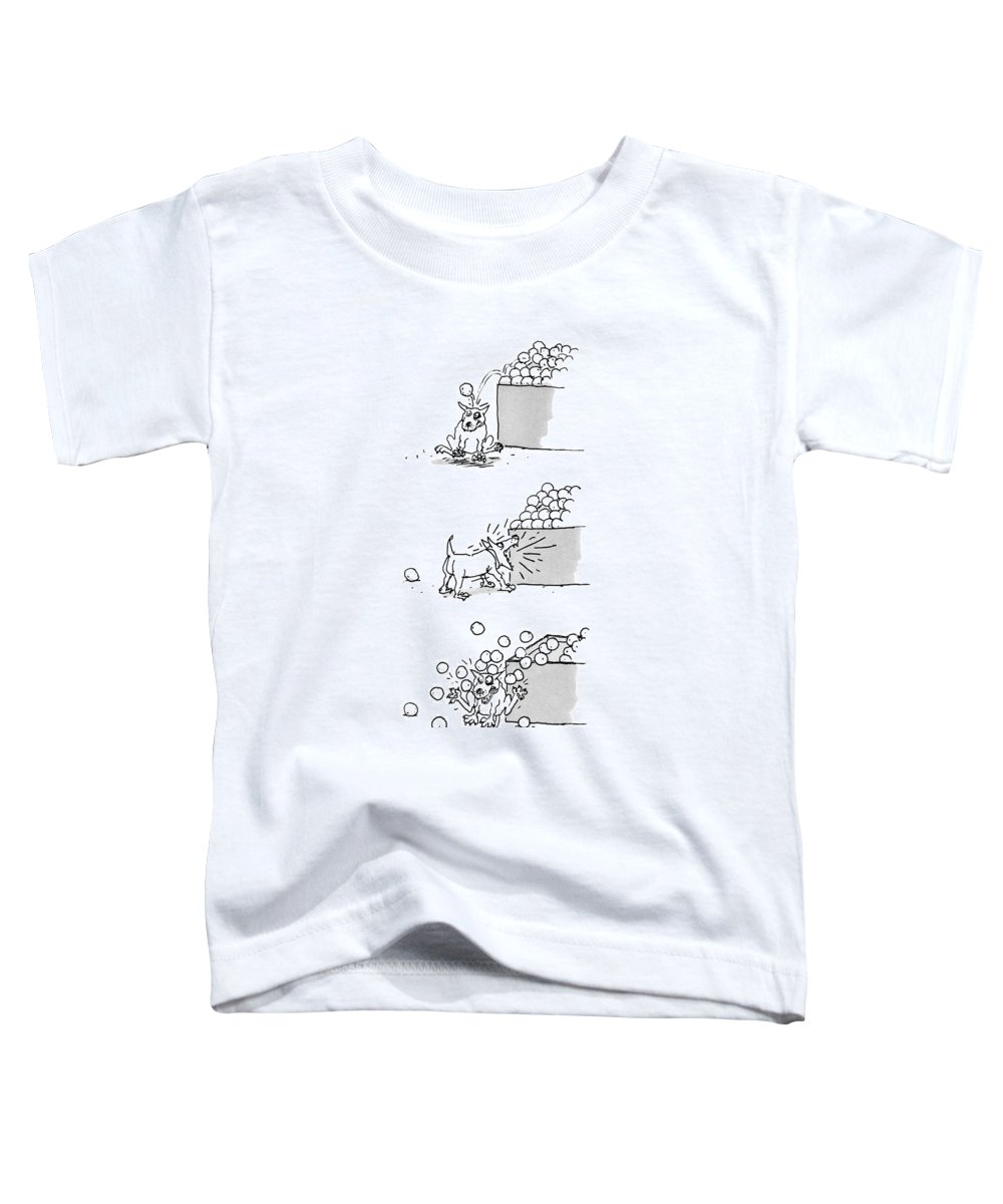 Captionless Toddler T-Shirt featuring the drawing New Yorker April 4th, 1988 by George Booth