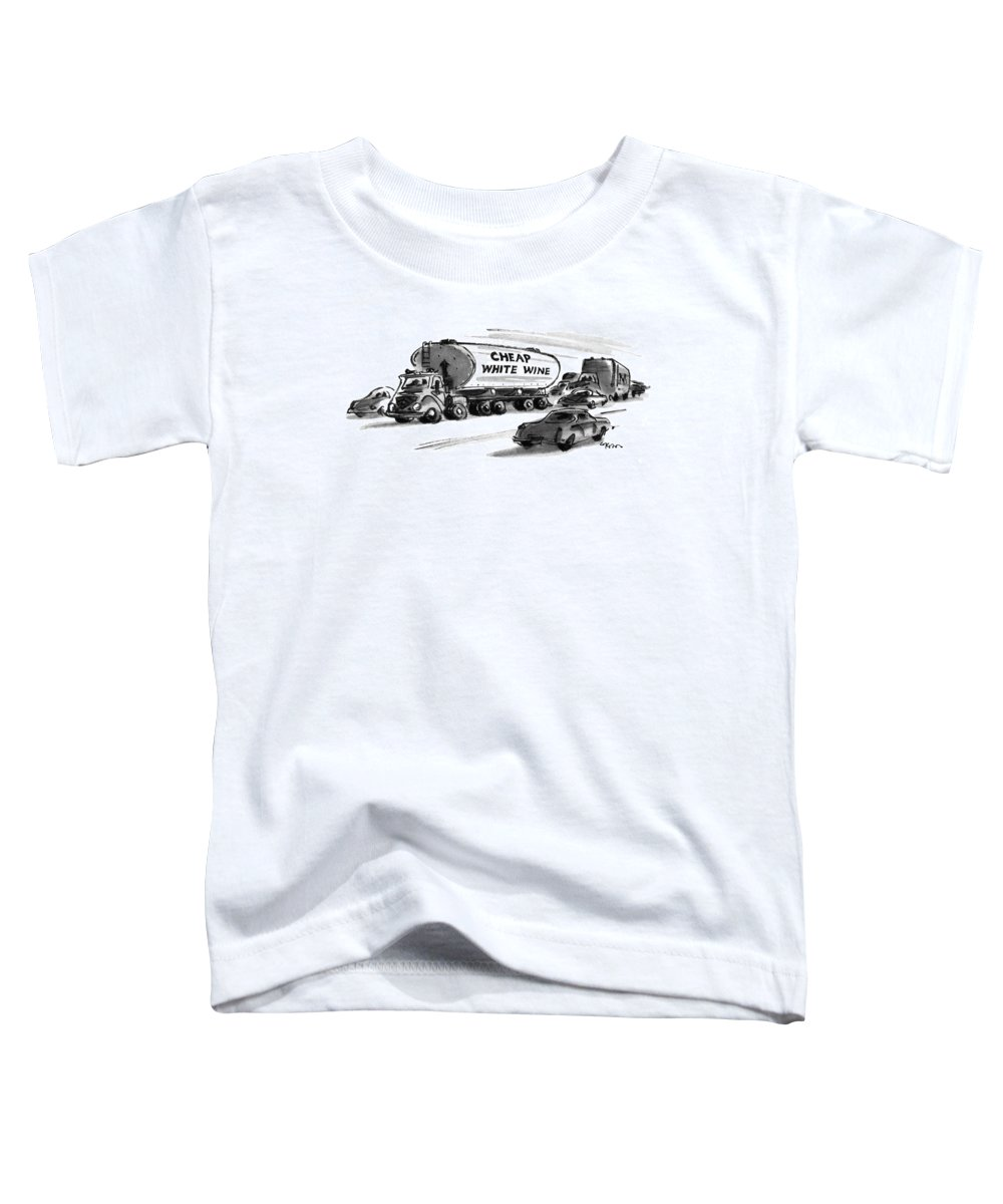 Consumerism Toddler T-Shirt featuring the drawing New Yorker December 25th, 1978 by Lee Lorenz