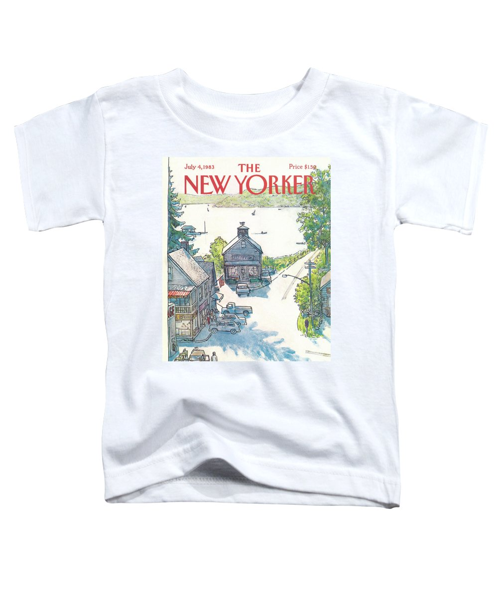 Rural Toddler T-Shirt featuring the painting New Yorker July 4th, 1983 by Arthur Getz