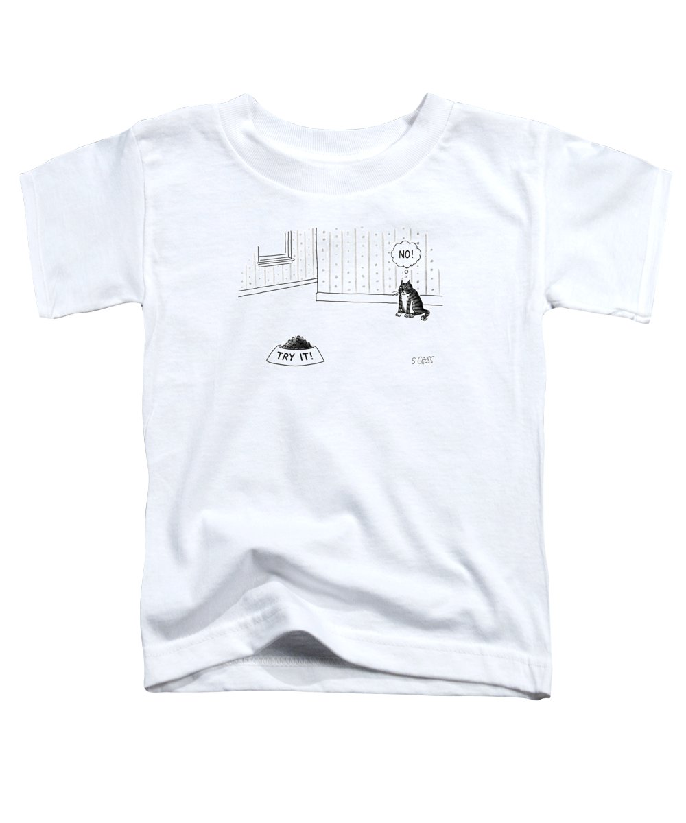 No Caption Toddler T-Shirt featuring the drawing New Yorker June 17th, 1991 by Sam Gross
