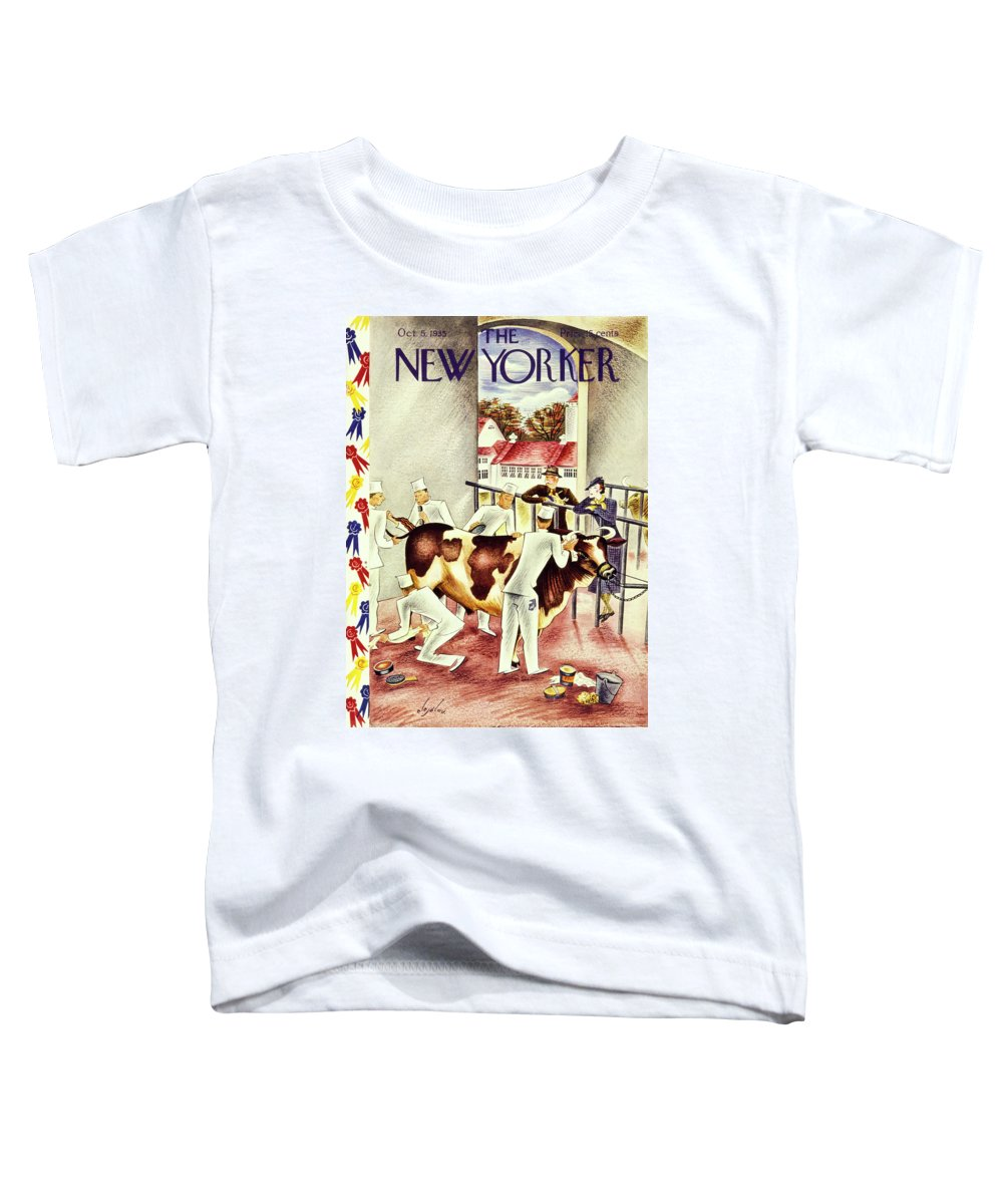 Illustration Toddler T-Shirt featuring the painting New Yorker October 5 1935 by Constantin Alajalov