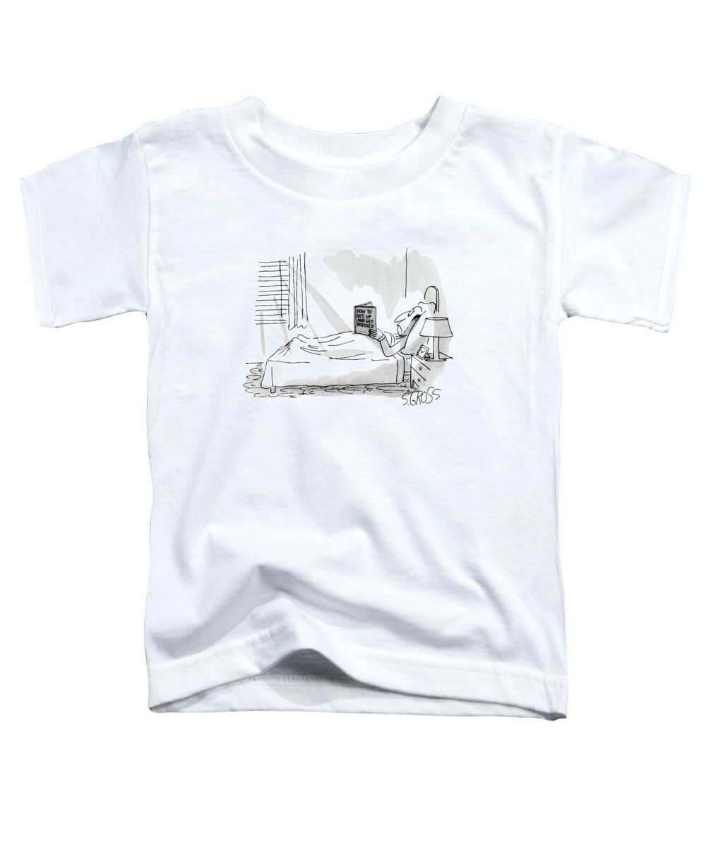 Psychology Toddler T-Shirt featuring the drawing New Yorker September 1st, 1980 by Sam Gross