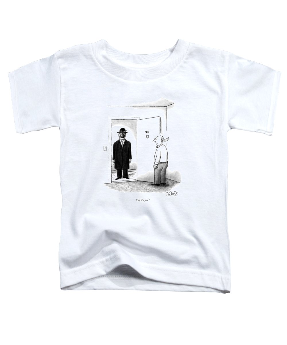 Art Toddler T-Shirt featuring the drawing Oh, It's You by Sam Gross