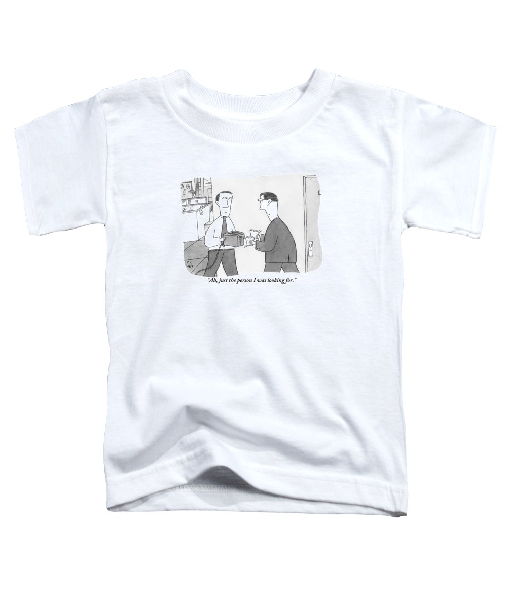 Toast Toddler T-Shirt featuring the drawing One Office Worker by Peter C. Vey