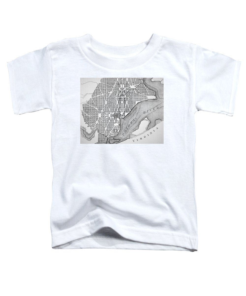 Columbia River Drawings Toddler T-Shirts