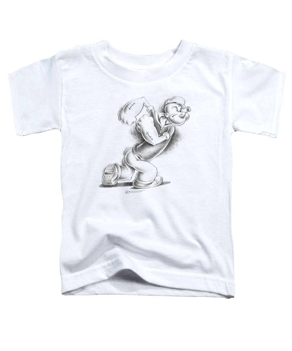Popeye Toddler T-Shirt featuring the digital art Popeye - Here Comes Trouble by Brand A