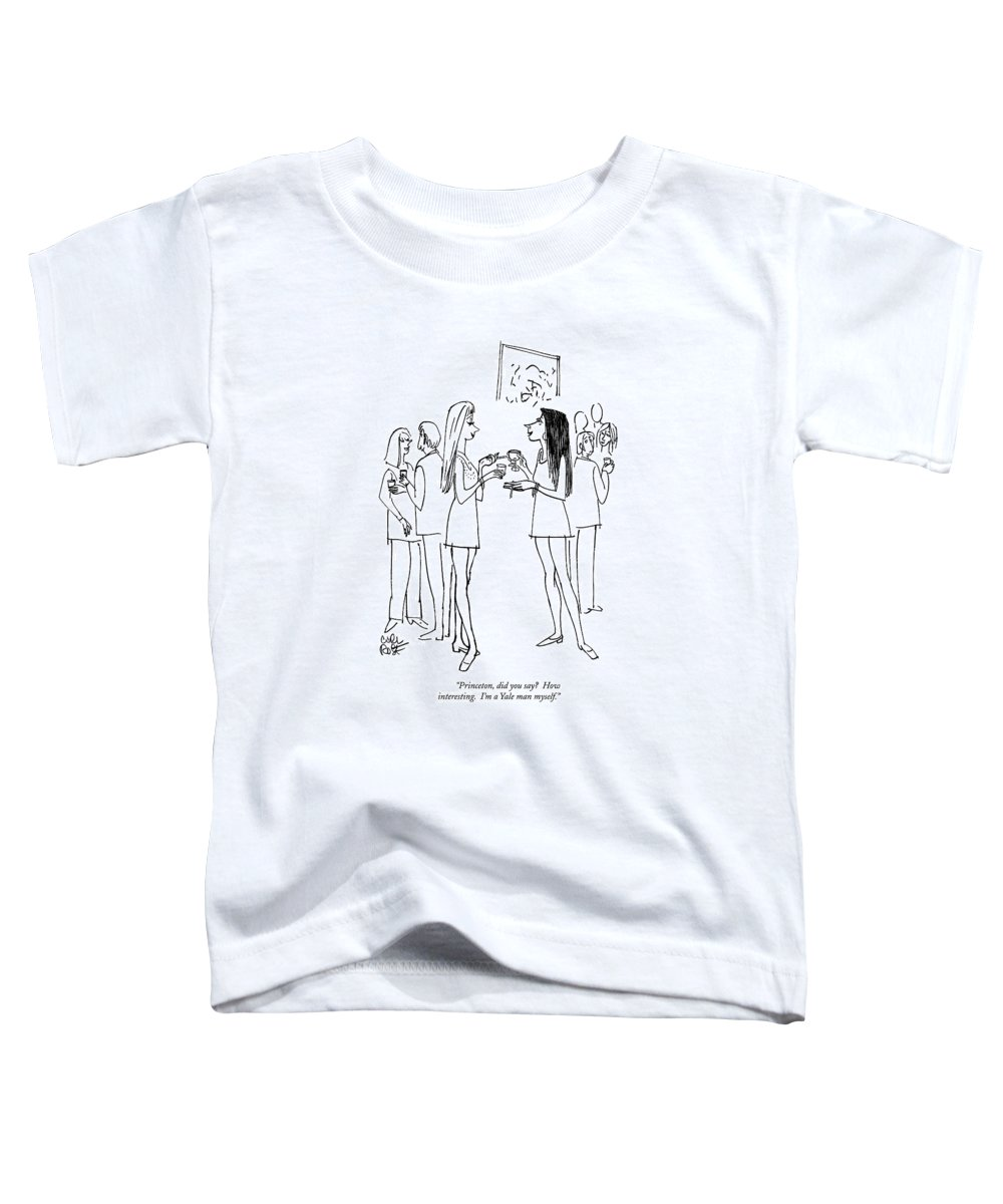 Education Toddler T-Shirt featuring the drawing Princeton, Did You Say? How Interesting.  I'm by Carl Rose