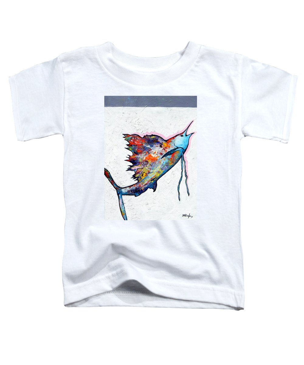 Wildlife Toddler T-Shirt featuring the painting Rainbow Warrior - Sailfish by Joe Triano