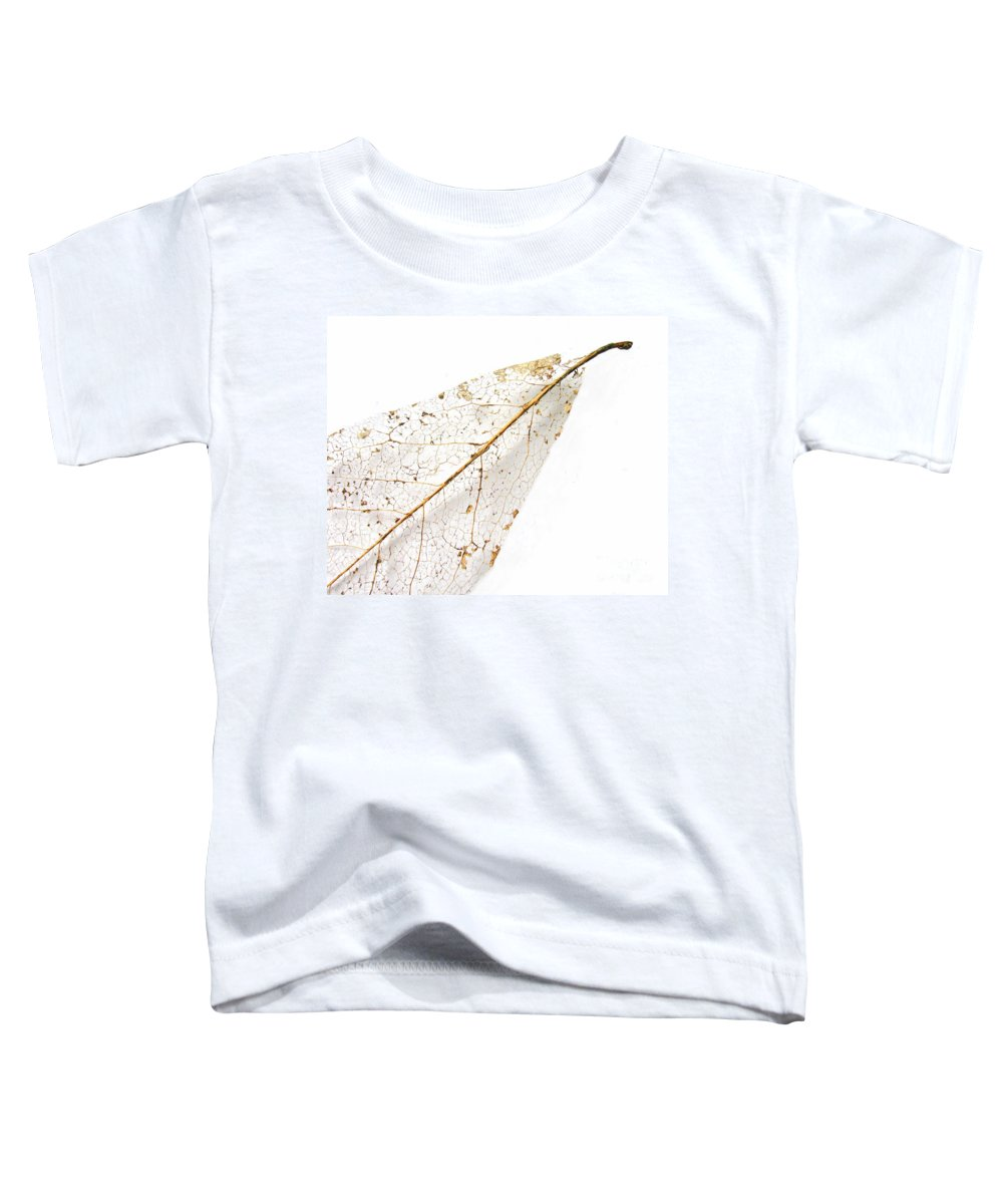 Leaf Toddler T-Shirt featuring the photograph Remnant Leaf by Ann Horn