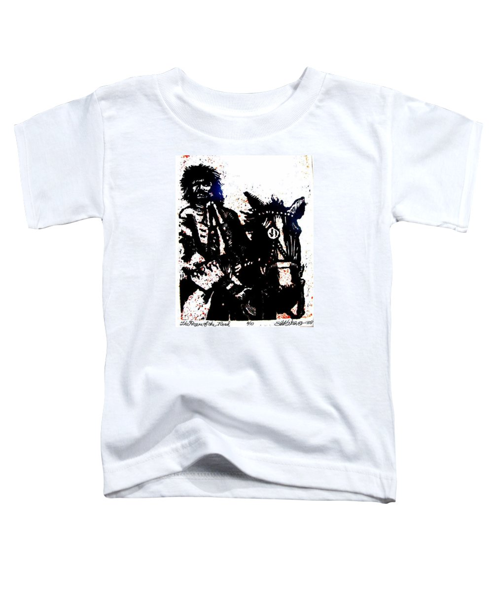 English Highwayman Toddler T-Shirt featuring the mixed media Rogue Of The Road by Seth Weaver