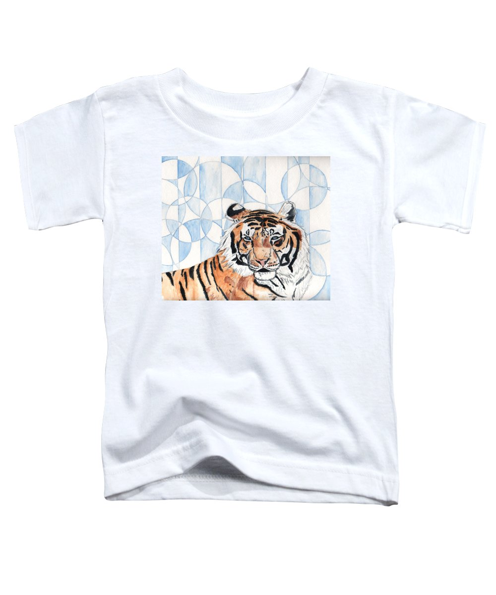 Tiger Toddler T-Shirt featuring the painting Royal Mysticism by Crystal Hubbard